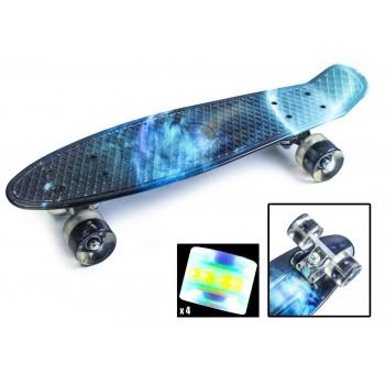 Пенни Борд с рисунком Zippy skateboards Ultra Led Темная Галактика